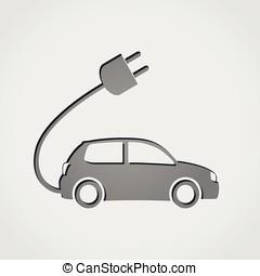 electric car grey icon