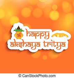 illustration of elements of Hindu festival Akshaya Tritiya...