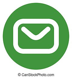 email circle green icon