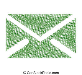 email symbol - illustration of email symbol with isolated on...