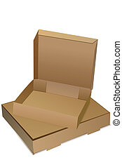 empty boxes - illustration of empty boxes on white...