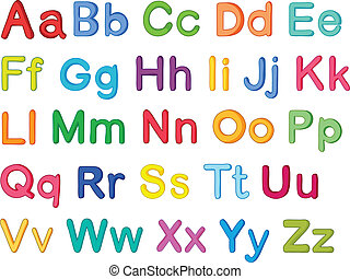 english alphabets - illustration of english alphabets on a...