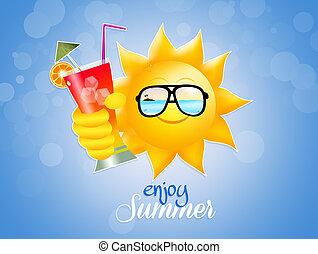 enjoy summer - illustration of enjoy summer