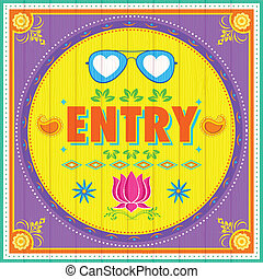 Entry Poster - illustration of Entry Poster India truck...