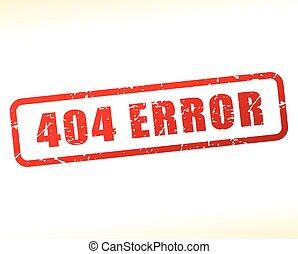 error message buffered