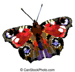 illustration of   European Peacock butterfly