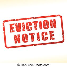 eviction notice text buffered - Illustration of eviction...