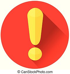 exclamation mark red circle icon