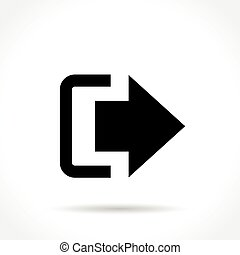 exit icon on white background
