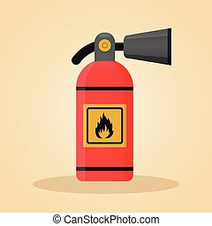 extinguisher in flat design concept