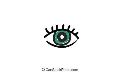 Illustration of eye against white background