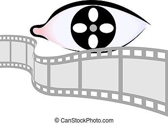 Eye and film