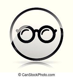 eye glasses icon on white background
