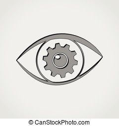 eye grey icon