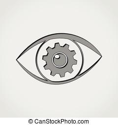 eye grey icon