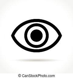 eye icon on white background