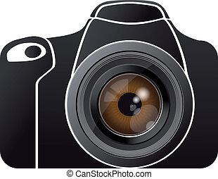 eye lens on photo camera