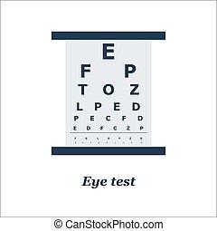 illustration of Eye test chart. Vector. Optician, ...