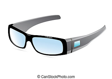 eye wear - illustration of eye wear on white background