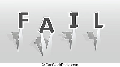 Illustration of fail word
