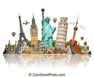 Illustration of famous monument of the world - Famous ...