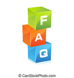 faq - illustration of faq on isolated background