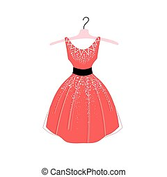 Illustration of fashionable dress - Beautiful illustration...
