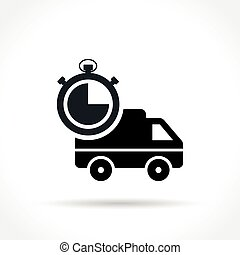 fast delivery icon on white background