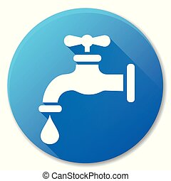 faucet blue circle icon design