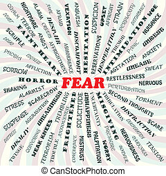 illustration of fear concept.