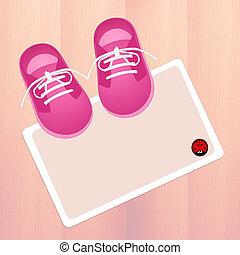 female baby shoes - illustration of female baby shoes