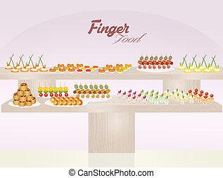 finger food - illustration of finger food
