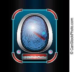 Fingerprint scanning isolated