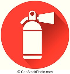 Fire Extinguisher Red Circle Icon