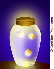 fireflies in the jar