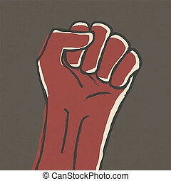 Illustration of fist - revolution symbol. Vector, EPS10.