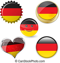 flag of germany in various shapes