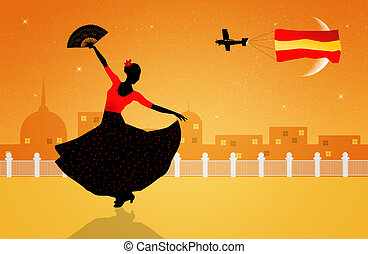 flamenco dancer - Illustration of flamenco dancer