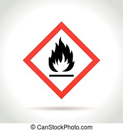 flammable icon on white background