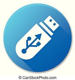 flash drive blue icon design