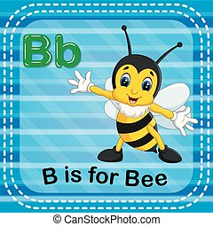 Flashcard letter B is for bee - illustration of Flashcard...