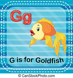 Flashcard letter G is for goldfish