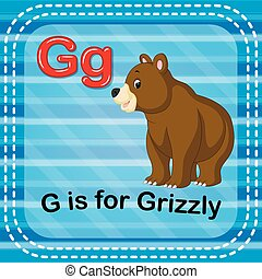 Flashcard letter G is for grizzly