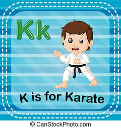 Flashcard letter K is for karate