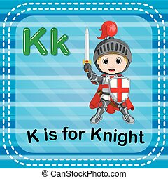 Flashcard letter K is for knight
