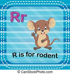 Flashcard letter R is for rodent
