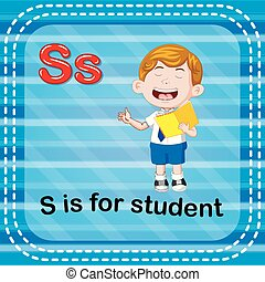 Flashcard letter S is for student