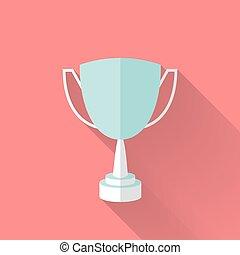 Flat award cup icon