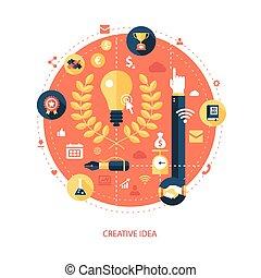 Illustration of flat design business illustration with compositi