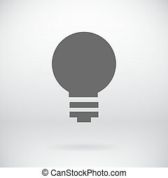 Flat Save Energy Bulb Light Icon Vector Symbol Background